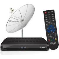 Kit Receptor Digital Cad1000 E Antena Parabólica 1,50M - Lnbf Mono E Kit Cabos - Cromus