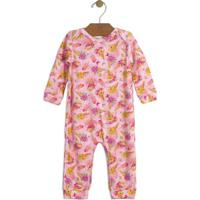 Macacão Floral- Rosa Claro & Amareloup Baby - Up Kids