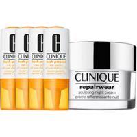 Kit Facial Clinique Fresh Pressed Vitamina C + Hidratante Noturno Repairwear Uplifitng Night