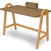 Escrivaninha Ringo Marrom Claro Estrutura Freijo 105Cm - 61010 - Sun House