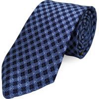 Gravata Concetto Seda Semi Slim Azul Marinho - Azul Marinho - Masculino - Dafiti