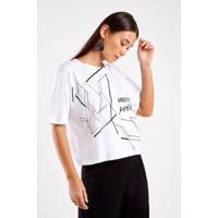 Blusa Malha Silk Arquitetura Sacada Feminina - Feminino-Branco
