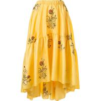 Romance Was Born Queens Hamlet Midi Skirt - Amarelo