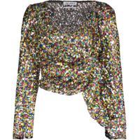The Attico Blusa Com Paetês - 021 Multicoloured
