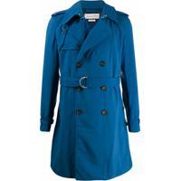 Alexander Mcqueen Trench Coat - Azul