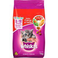 Ração Para Gatos Whiskas Filhotes Sabor Carne E Leite Com 1Kg