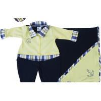 Saída Maternidade Marinheiro Balão Kids Azul Marinho E Amarelo
