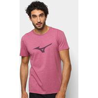 Camiseta Mizuno Soft Run Bird Masculina - Masculino-Vinho