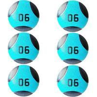 Kit 6 Medicine Ball Liveup Pro D 6 Kg Bola De Peso Treino Funcional - Unissex