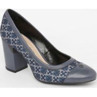 Sapato Com Logo Da Marca- Azul Escuro & Azul Claro- Capodarte