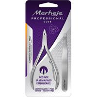 Conjunto - Merheje - Alicate Para Cutículas Pro Pinça - Prata