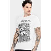 Camiseta And1 Comic Player Masculina - Masculino-Branco