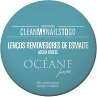 Lenços Removedores De Esmalte Océane - Clean My Nails To Go Acqua Breeze 25 Un - Unissex-Incolor