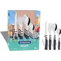 Faqueiro 16 Peças - Amalfi - Cores Cinza Brilhante E Cinza Quill - Tramontina