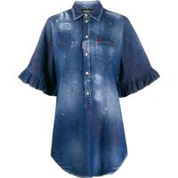 Dsquared2 Camisa Jeans Oversized - Azul