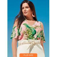 Blusa Tecido Rayon Bali Rosa