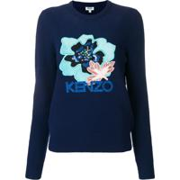 Kenzo Suéter 'Indonesian Flower' - Azul