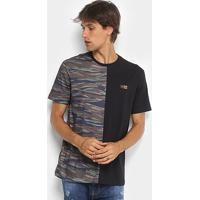 Camiseta Mcd Especial Duo Camouflage Masculina - Masculino-Preto+Azul