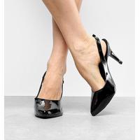 Scarpin Griffe Chanel Salto Alto - Feminino-Preto