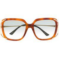Gucci Eyewear Óculos De Sol Quadrado Gg0647S003 003 - Marrom