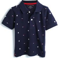 Camiseta Tommy Hilfiger Kids Menino Estampa Azul-Marinho