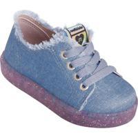 Tênis Molekinha Jeans Com Solado Em Gliter