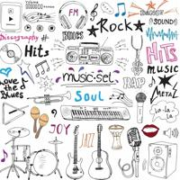 Papel De Parede Adesivo Music (0,58M X 2,50M)
