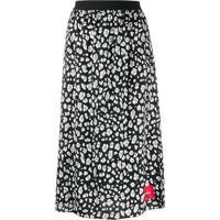 Calvin Klein Jeans Leopard-Print Midi Skirt - Preto