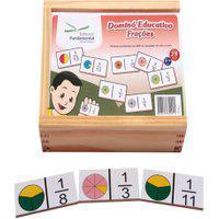Dominó Educativo Frações Jogo Com 28 Peças - Fundamental