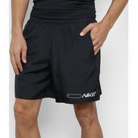 Shorts Nike Air Challenger Masculino - Masculino-Preto+Prata