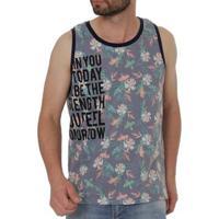 Camiseta Regata Fbr Masculina - Masculino-Azul+Laranja