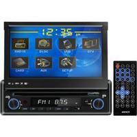 """Dvd Player Automotivo Sunfire Xdv-710 Dt Com Tv Digital, Tela Touch Screen Retrátil De 7"""", Rádio Am/Fm, Entrada Usb, Sd E Auxiliar + Controle Remoto"""