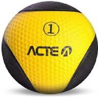 Medicine Ball 1Kg Acte Sports T101 Amarelo