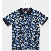 Camisa Infantil Yachtmaster Polo Piquet Camuflagem Masculina - Masculino