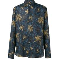 Etro Paisley Palm Print Shirt - Azul