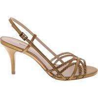 Sandália Mini Stripes Bronze | Schutz