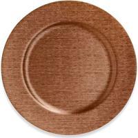 Sousplat Copa & Cia Texture Bronze Metalizado 36Cm - 29422