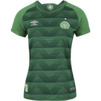 Camisa Da Chapecoense I 2017 Umbro - Feminina - Verde/Branco