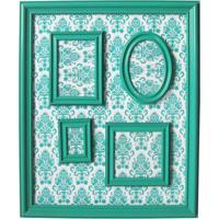 Porta Retratos Magnetico 46X57 Barroque Multiple Frame Verde