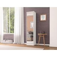 Sapateira 1 Porta Com Espelho Reflex Branco - Lc Móveis