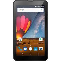 Tablet Multilaser M7 3G Plus 1Gb 8Gb Quad Core Dual Câmera Tela 7 Dual Chip Preto - Nb269 - Padrão