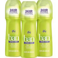Ban Kit Desodorante Antitranspirante Roll-On 103Ml Trio - Simply Clean