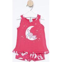 Pijama Lua & Coelho- Pink & Brancokyly