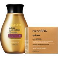 Combo Nativa Spa Quinoa & Amêndoas: Sabonete Em Barra + Óleo Hidratante Corporal
