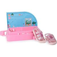 Sandália Infantil Grendene Barbie Spa Rosa