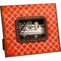 Porta-Retrato De Madeira Decorativo Com Pedras Shackle