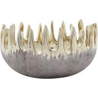 Vaso Decorativo Assimã©Trico- Cinza & Dourado- 9Xã˜15Crojemac