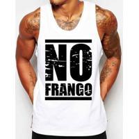 Camiseta Regata Criativa Urbana Frases No Frango Academia - Masculino-Branco