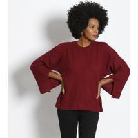 Blusa Em Tricô - Bordô - Ahaaha