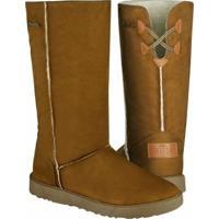 Bota Barth Shoes Las Lenas Feminina - Feminino-Caramelo